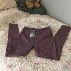 Gymshark summer running legging purple wash NWT